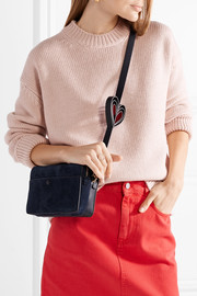 Double Stack nubuck and leather shoulder bag