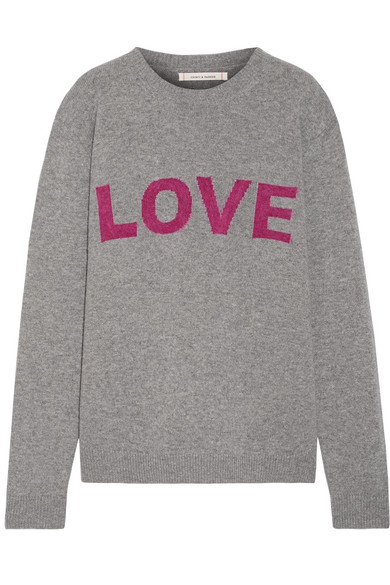 ff70e82cf19276 Chinti and Parker | Love intarsia wool and cashmere-blend sweater ...