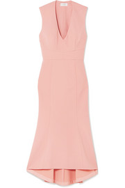 Ravena lace-up crepe midi dress