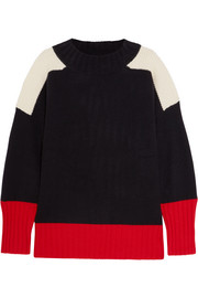 Chinti and Parker Patchwork cashmere sweater