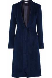 Bava herringbone llama and wool-blend coat