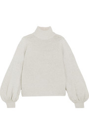 Bella ribbed merino wool-blend turtleneck sweater