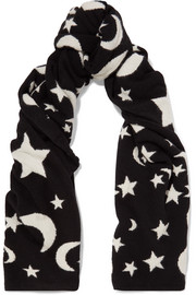 Chinti and Parker Midnight Sky cashmere scarf