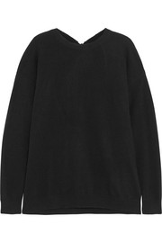Chinti and Parker Open-back wool and cashmere-blend sweater