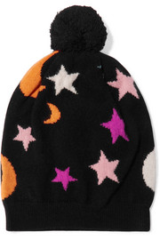 Chinti and Parker Midnight Sky cashmere beanie