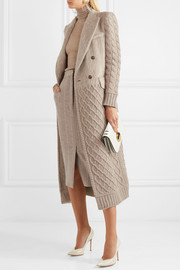 Alda paneled wool and cashmere-blend coat