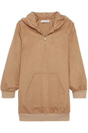 Camel hair hooded top
