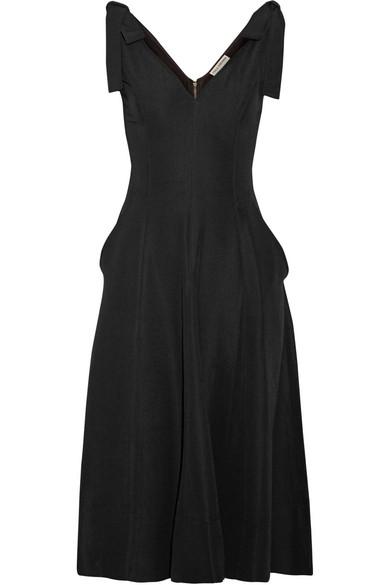 ULLA JOHNSON Lana Sleeveless Fit & Flare Dress in Black