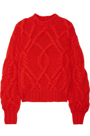 Pilar cable-knit wool sweater