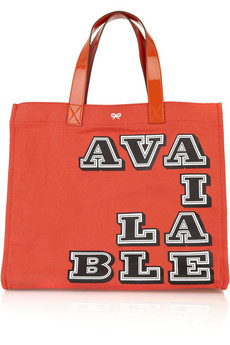 Anya Hindmarch | Available canvas tote | NET-A-PORTER.COM from net-a-porter.com