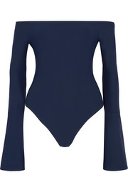 Alix Baxter off-the-shoulder stretch-jersey bodysuit