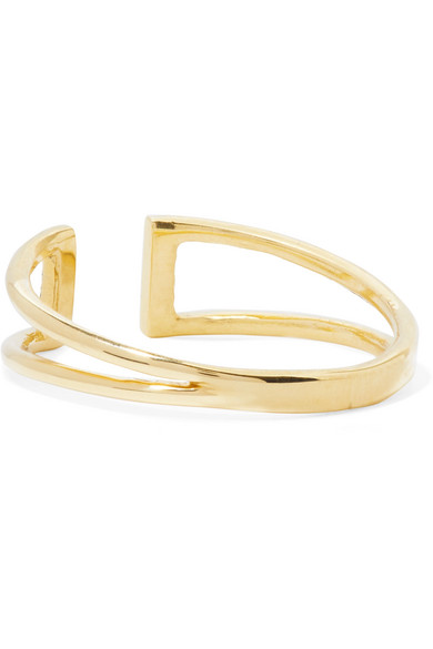 Jennie Kwon Designs Buckle 14-karat Gold Diamond Ring f2rOFr0pyZ
