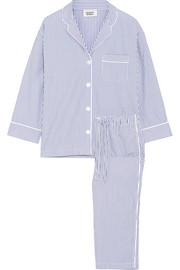 Sleepy Jones Marina striped cotton pajama set