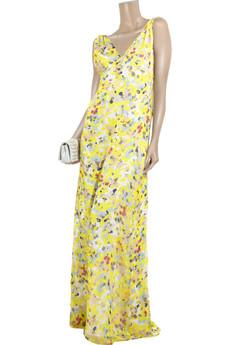 Adam Floral-print silk-chiffon maxi dress