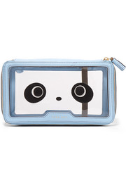 Anya Hindmarch In Flight Kawaii leather-trimmed cosmetics case