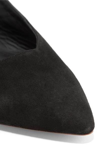 Mansur Gavriel Slingback-Pumps aus Veloursleder
