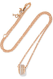 Possession 18-karat rose gold diamond necklace