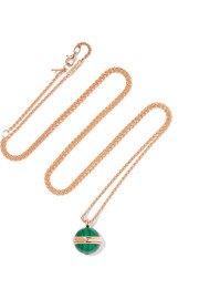 Possession 18-karat rose gold, malachite and diamond necklace