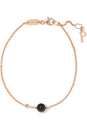 Possession 18-karat rose gold, onyx and diamond bracelet