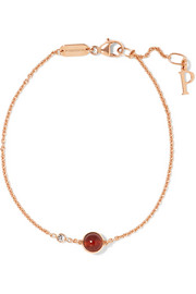 Possession 18-karat rose gold, carnelian and diamond bracelet