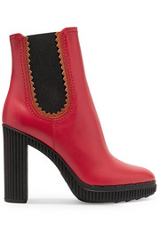 Tod's Leather platform ankle boots