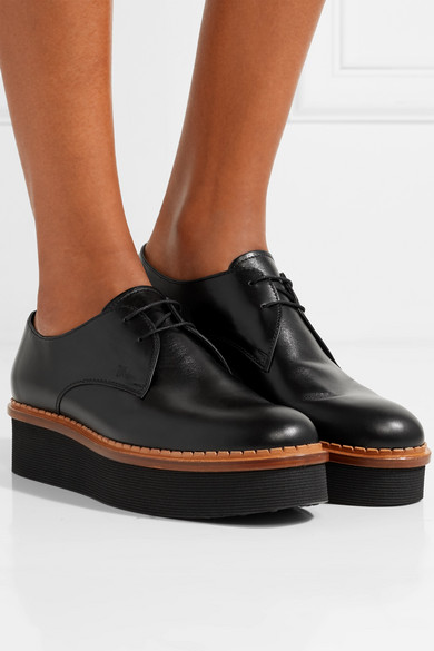 6c8f2cd45368 Leather platform brogues
