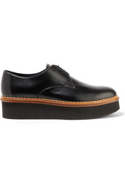 Tod's Leather platform brogues