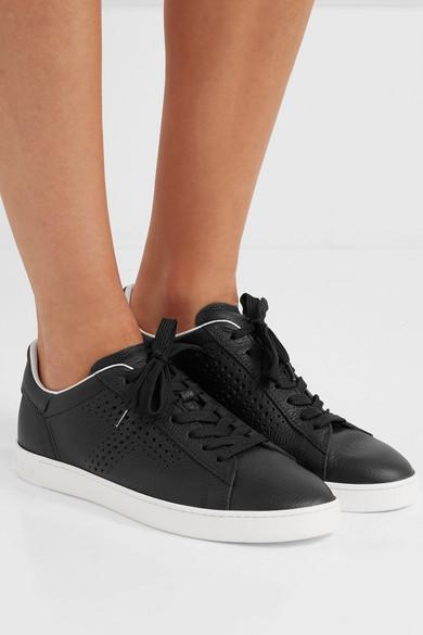 Tod's   strukturiertem Sneakers aus strukturiertem   Leder mit Logoperforation d43d3c