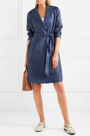 J.Crew Gilbert polka-dot silk-satin dress