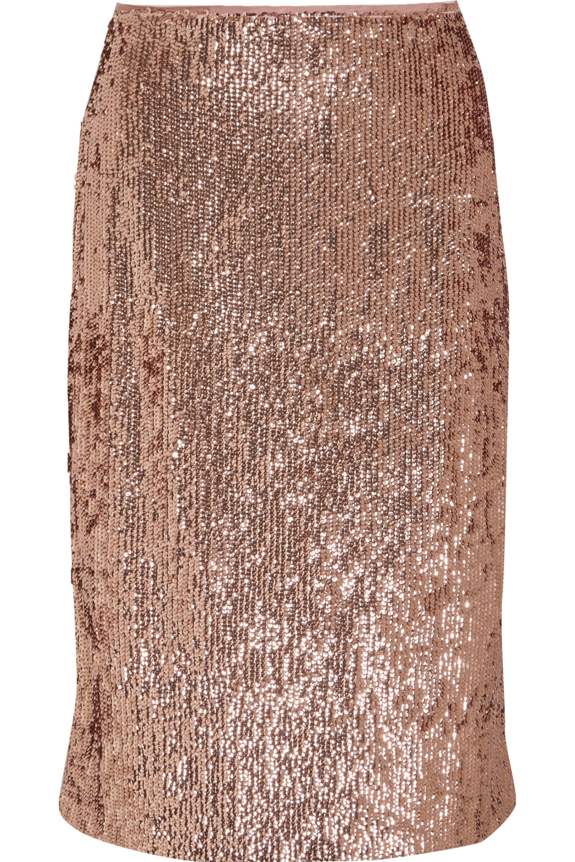 J.Crew Sequined crepe skirt