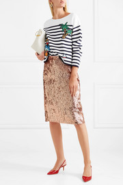 J.Crew Sequined crepe skirt