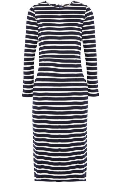 J.Crew - Chloe Striped Cotton-jersey Dress - Navy