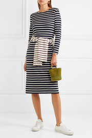 J.Crew Chloe striped cotton-jersey dress