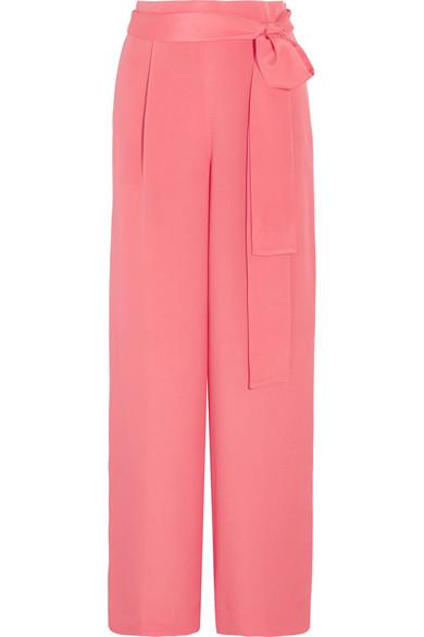 J.Crew - Raquel Silk Crepe De Chine Wide-leg Pants - Pink