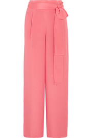 Raquel silk crepe de chine wide-leg pants