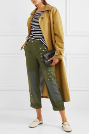 J.Crew Geller embroidered patchwork cotton straight-leg pants