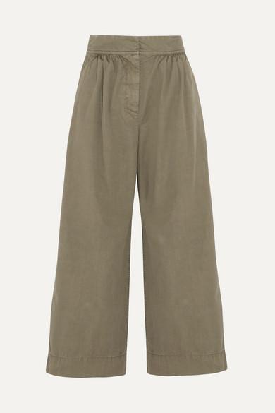 J.Crew - Kent Cotton Wide-leg Pants - Army green