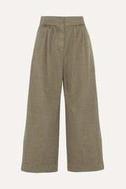 J.Crew Kent cotton wide-leg pants