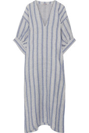 Three Graces London Livietta striped linen and cotton-blend kaftan