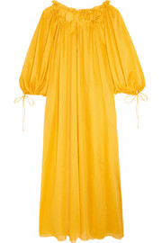 Almost a Honey Moon cotton-voile maxi dress