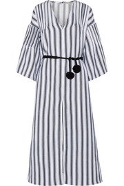 Elvira striped linen and cotton-blend kaftan
