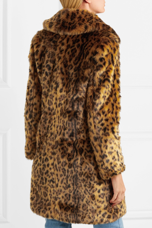 J.Crew Mantel aus Faux Fur mit Leopardenprint