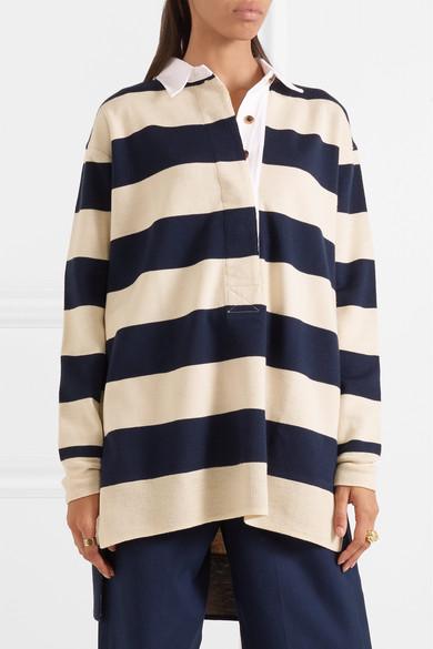 J.Crew Garret Oversized-Polohemd aus gestreifter Merinowolle