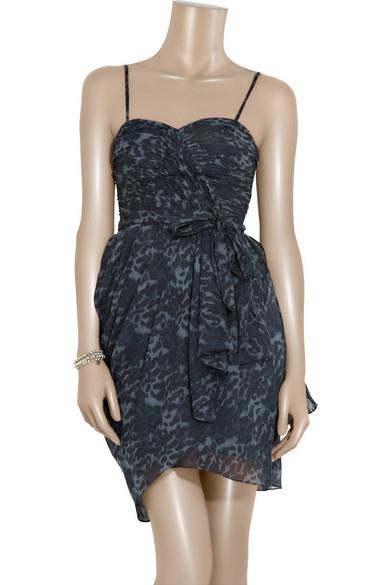 3844d5054a4f Rebecca Taylor. Chase Me puma-print dress