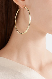 Classic Round gold-plated hoop earrings