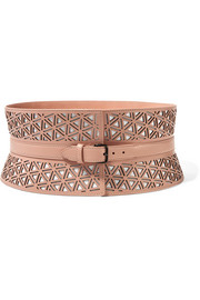 Alaïa Laser-cut leather waist belt
