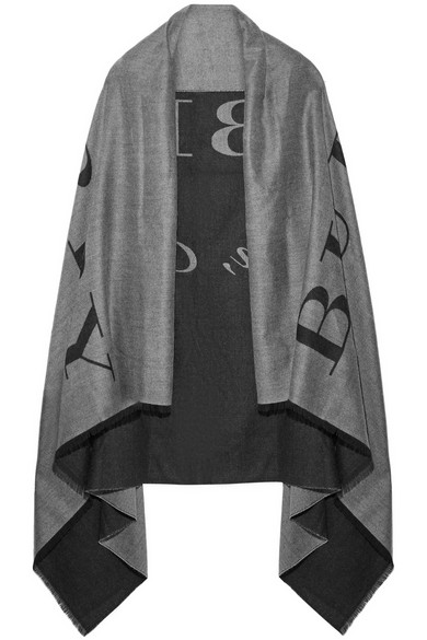 Burberry - Printed Cashmere Wrap - Anthracite