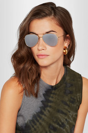 Wooster aviator-style gold-tone sunglasses