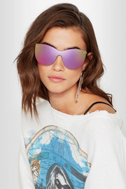 Boca Mask cat-eye gold-tone mirrored sunglasses