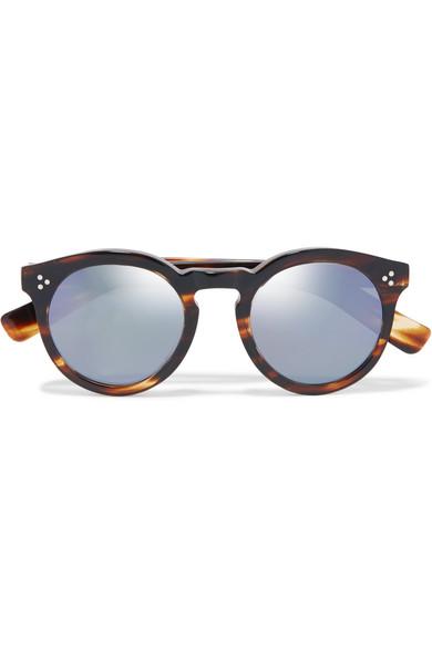 09fcb3c848a78 Illesteva. Leonard II round-frame acetate mirrored sunglasses
